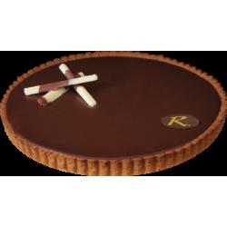 Tarte chocolat noisette - La Romainville