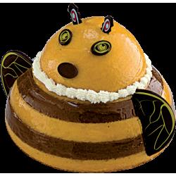 Gâteau Abeille - Mousse exotique/chocolat - pour anniversaire d'enfant - La Romainville