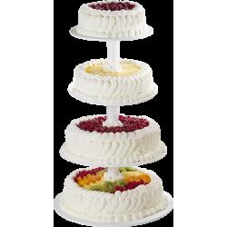 Pièce Montée Tutti Frutti - Gâteau de mariage - Pâtisserie La Romainville