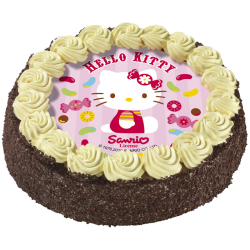 Gâteau au chocolat ou vanille Hello Kitty - Anniversaire enfant  - Pâtisserie La Romainville