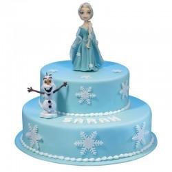 Pièce Montée Reine des neiges Elsa - Gâteau  Anniversaire enfant  - Pâtisserie La Romainville