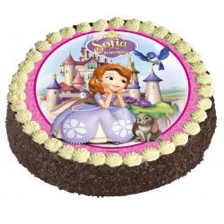 Gâteau au chocolat ou vanille Princesse Sofia - Anniversaire enfant  - Pâtisserie La Romainville
