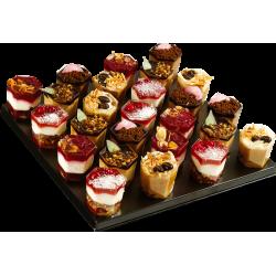 Mini-verrines  - cocktails sucrés - pâtisserie La Romainville