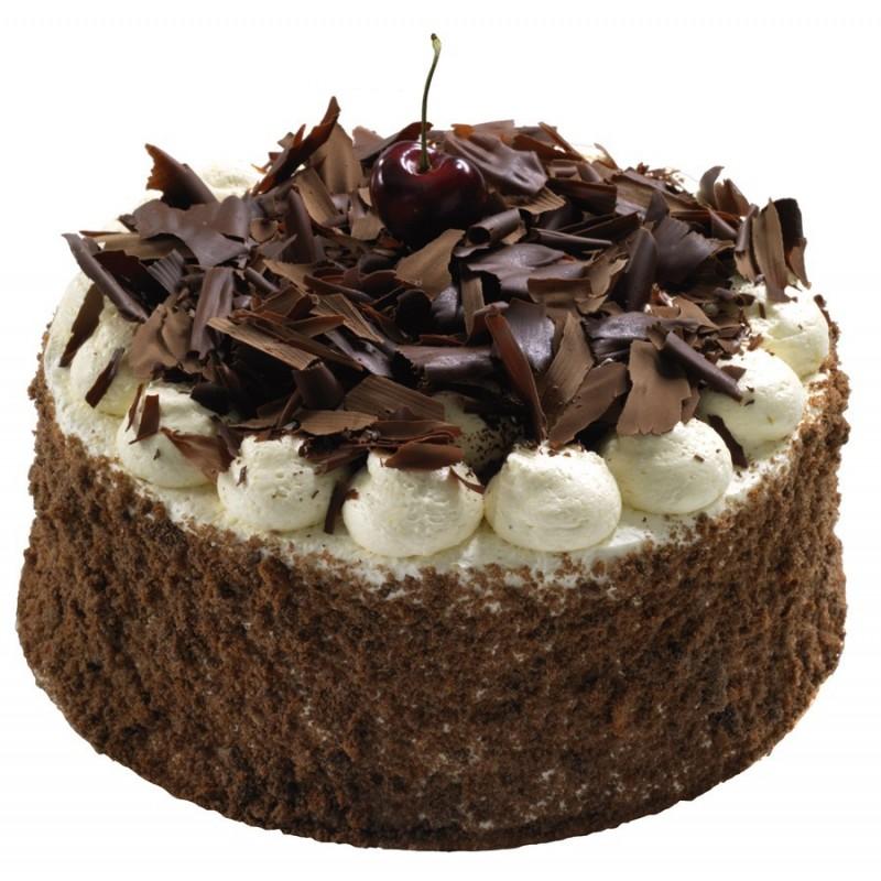 Forêt noire - Gâteau à la crème kirsch, cerises noires et génoise chocolat - La Romainville