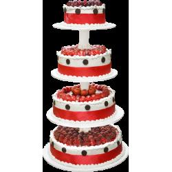 Pièce Montée Rouge Passion framboise - gâteau de mariage - Pâtisserie La Romainville