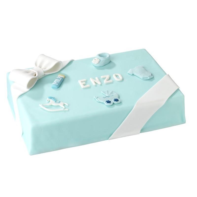 P'tit Bomhomme - Gâteau  personnalisabe garçon - Anniversaire et baptême enfant  - Pâtisserie La Romainville
