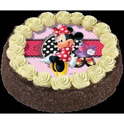 Gâteau chocolat ou vanille Minnie - anniversaire enfant - Pâtisserie La Romainville