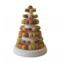 Pièce Montée de macarons - petit modèle - Pâtisserie La Romainville