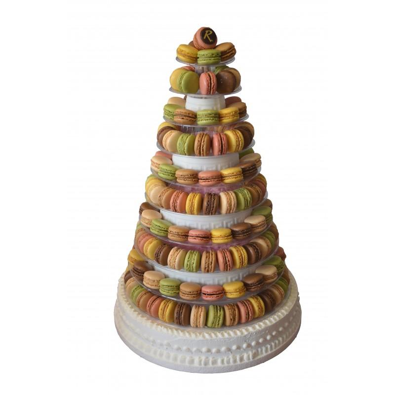 Pièce Montée de macarons - grand modèle - Pâtisserie La Romainville