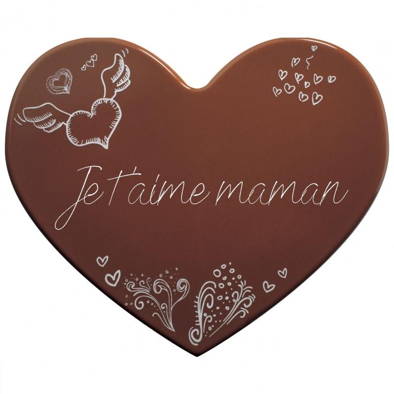 Cœur en chocolat à graver