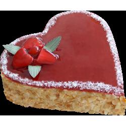 Gâteau Coeur fraisier  - Pâtisserie La Romainville