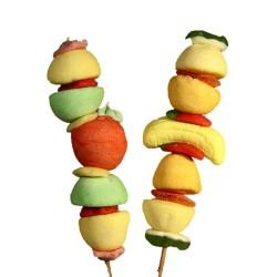 Brochettes bonbons fruits - Anniversaire enfant  - Pâtisserie La Romainville