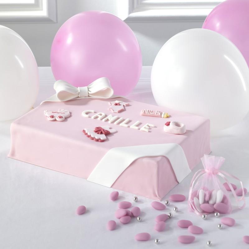 Choupette - Gâteau  personnalisabe fille - Anniversaire et baptême enfant  - Pâtisserie La Romainville