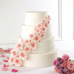 Scarlett Roses - wedding cake