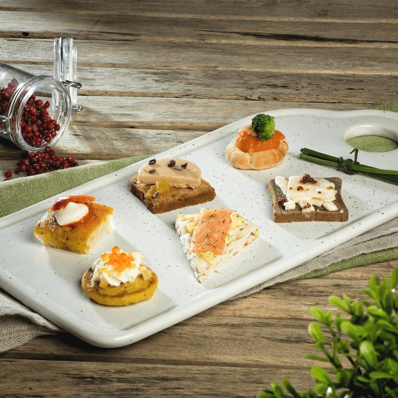 Canapés création - cocktails salés - Pâtisserie La Romainville