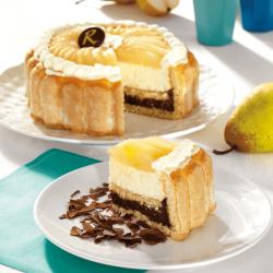 Charlotte Poire Chocolat - Pâtisserie La Romainville
