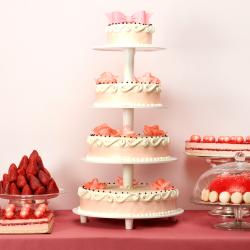 Pièce montée Romantica - buffet de dessert