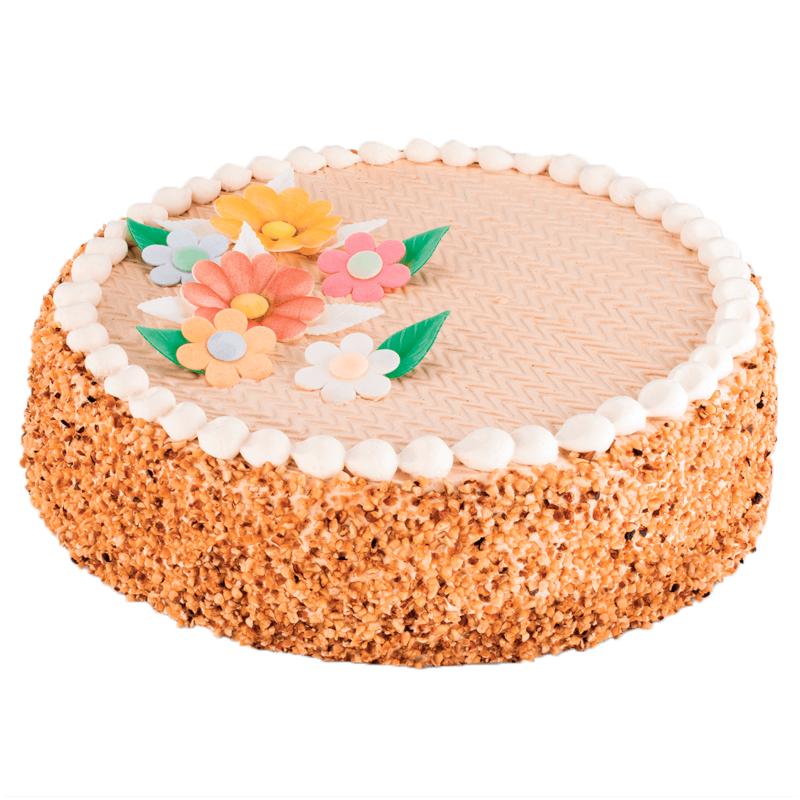 Décoré Simple - Gâteau Moka Noisette ou noix de coco