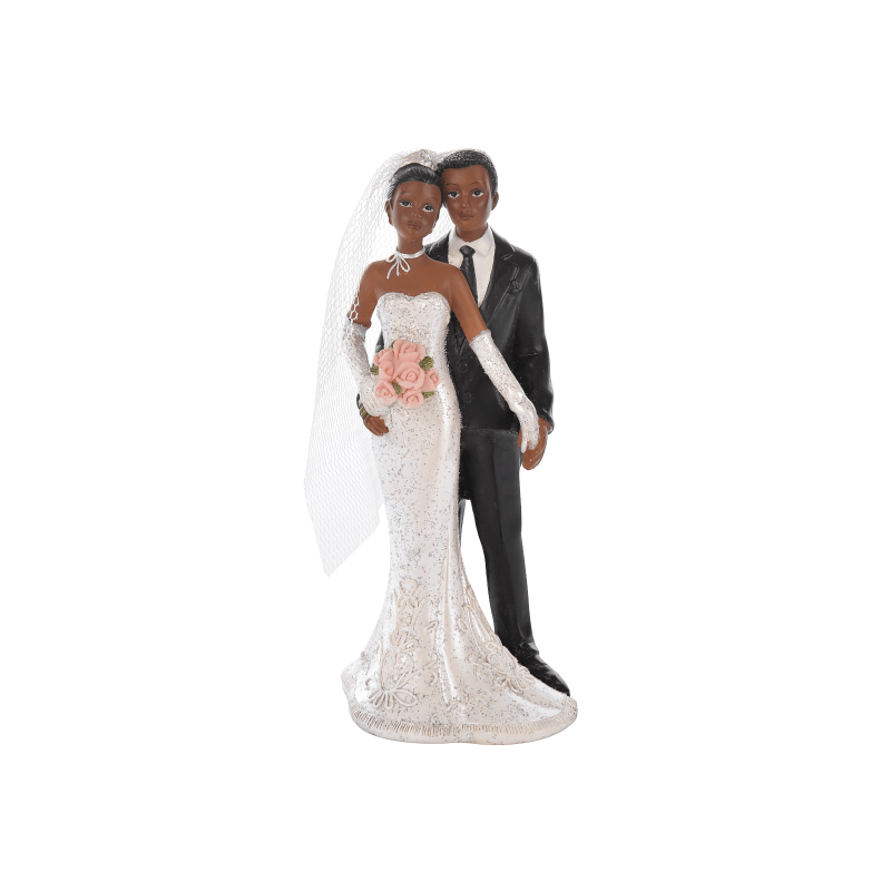 Couple Mariés Métisses - Figurine Mariage - Accessoires La Romainville