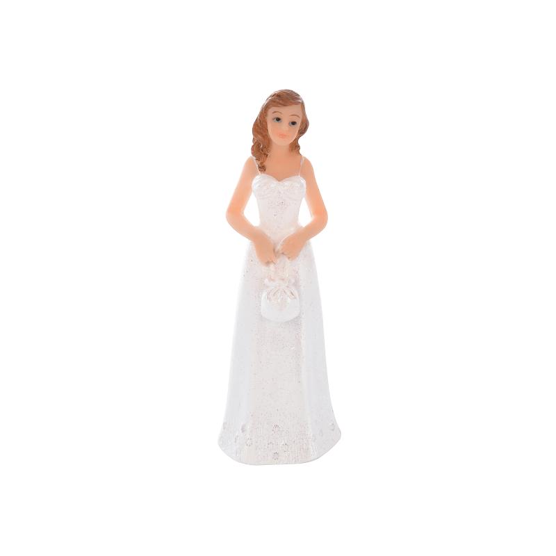 Mariée blanche - Figurine Mariage - Accessoires La Romainville