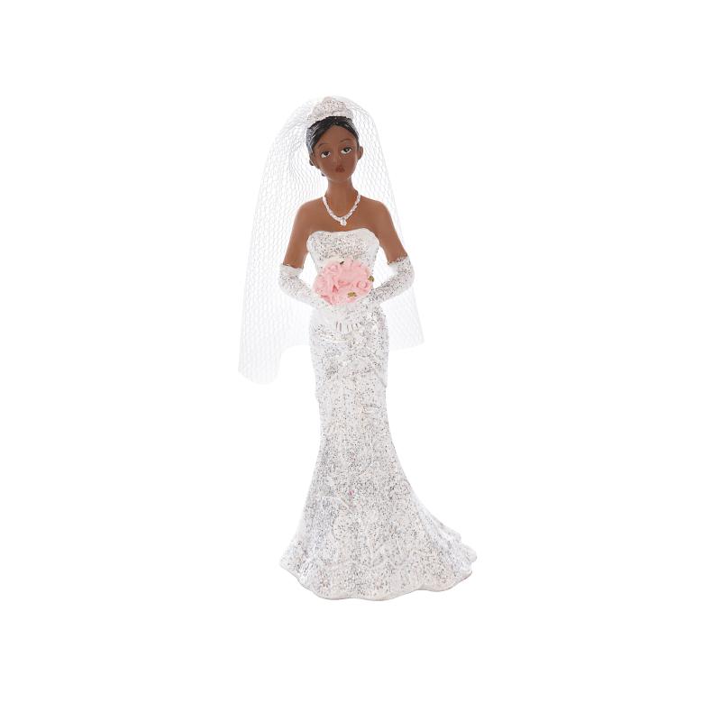 Mariée métisse - Figurine Mariage - Accessoires La Romainville