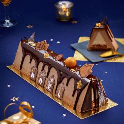 Bûche Mythique Chocolat Caramel de la Romainville