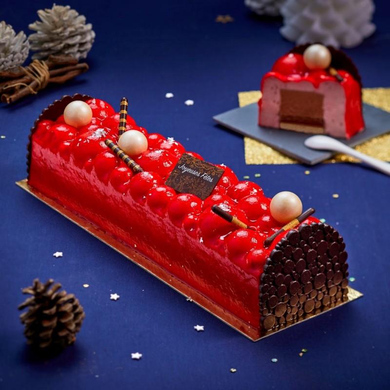 Bûche  Exquise Fraise Chocolat de la Romainville