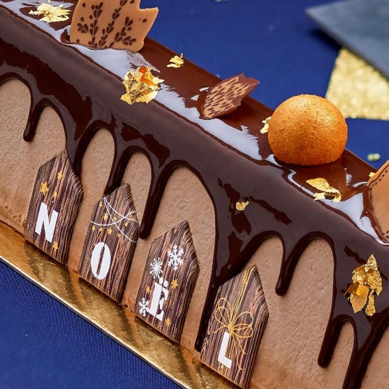 détails buche mythique chocolat caramel