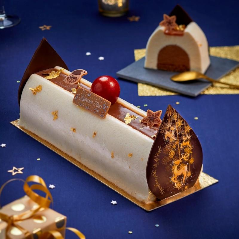 Bûche Fabuleuse Poire Chocolat - desserts de fête la romainville
