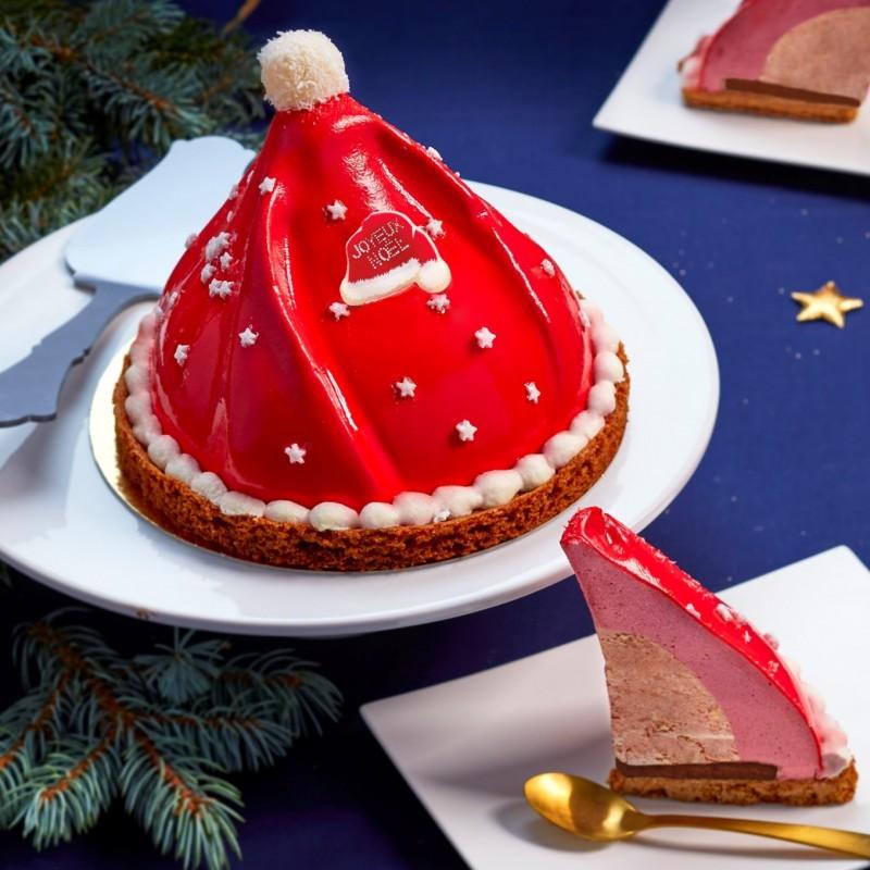 Un gâteau en forme de bonnet de Noël pour émerveiller les enfants !