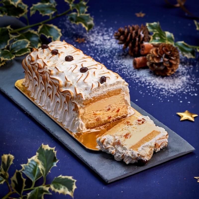 Dessert glacé de Noël Omelette Norvégienne - Pâtisserie La Romainville