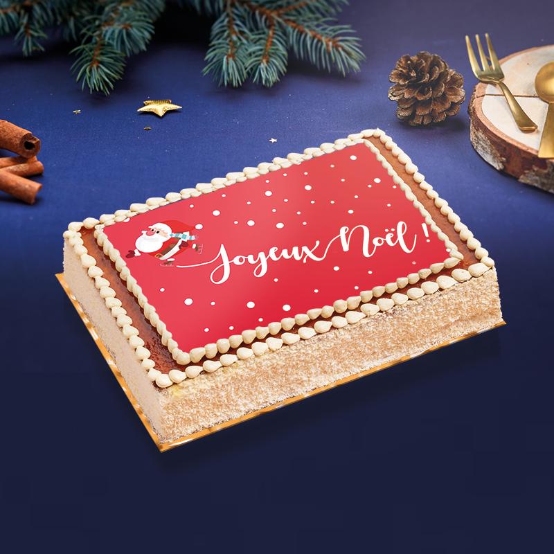 Gâteau père Noël - délicieux gâteau au fabuleux décor de Noël