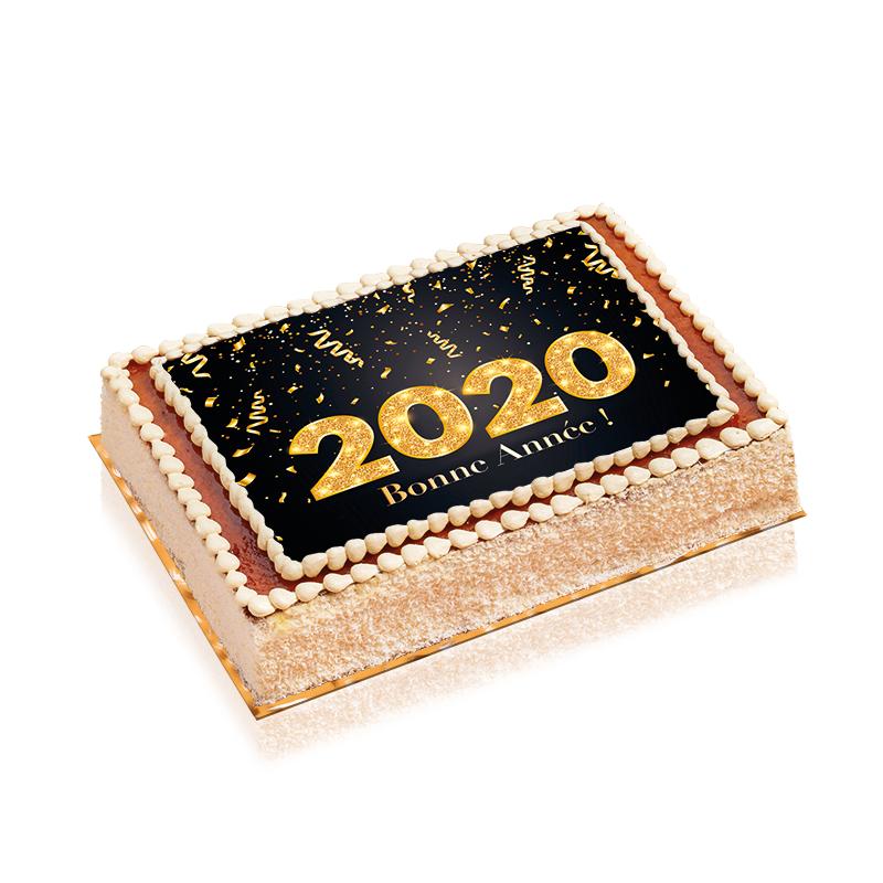 Gâteau Bonne Année 2020 - délicieux gâteau au fabuleux décor pour fêter la nouvelle année