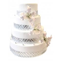 Wedding Cake Argent - Pièce montée La Romainviille