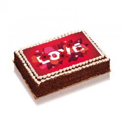 Gâteau Je T'aime - délicieux gâteau au décor extraordinaire pour fêter l'amour