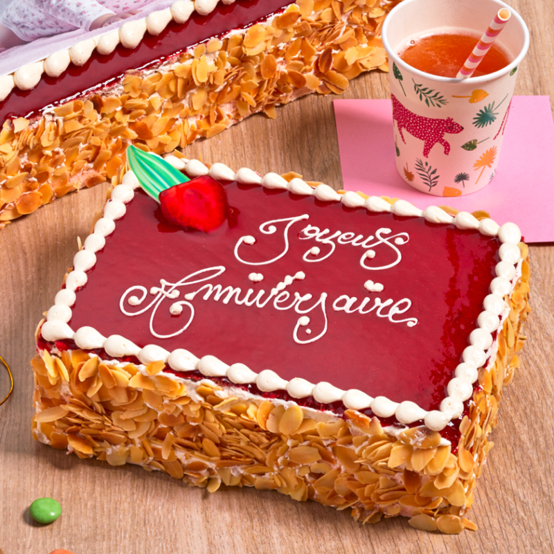 Fraisier personnalisé - gâteau avec inscription - Pâtisserie La Romainville