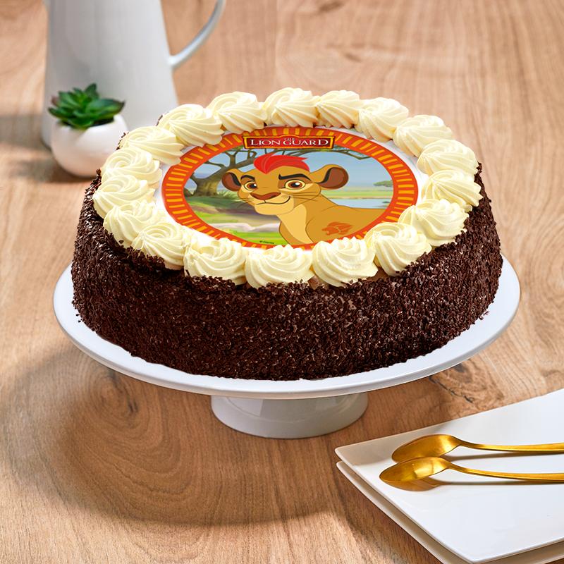Gâteau au chocolat la garde du roi lion - Anniversaire enfant  - Pâtisserie La Romainville