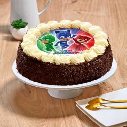 Gâteau au chocolat Pyjamasks - Anniversaire enfant  - Pâtisserie La Romainville