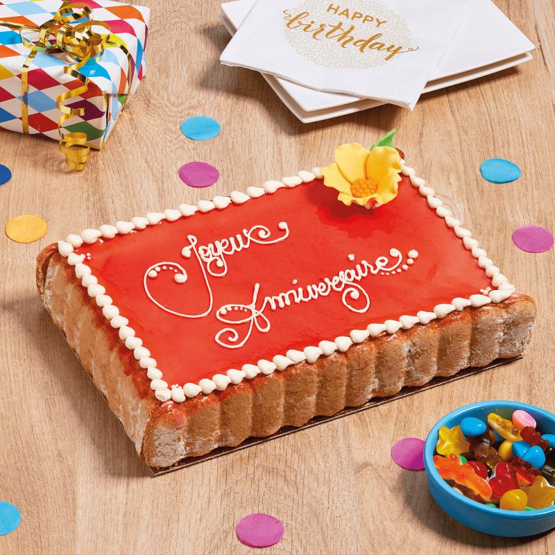 Charlotte chocolat ou fraises personnalisée - Pâtisserie La Romainville