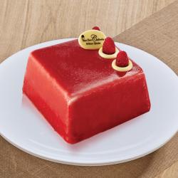 un dessert glacé à la framboise, délicatement acidulé pour fondre de gourmandise