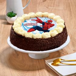 Gâteau au chocolat ou vanille Spiderman - Anniversaire enfant  - Pâtisserie La Romainville
