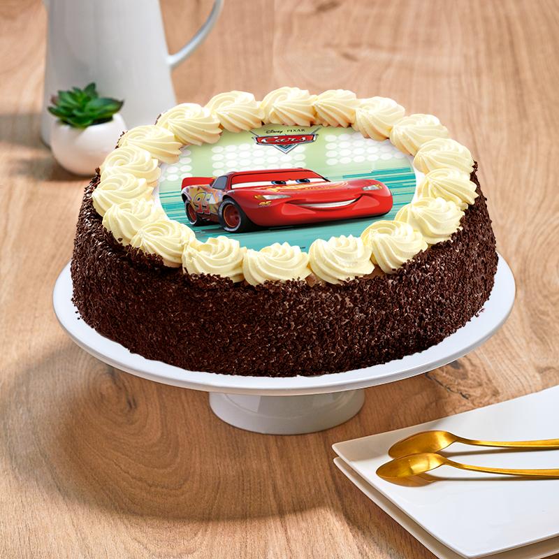 Gâteau Cars chocolat ou vanille - La Romainville