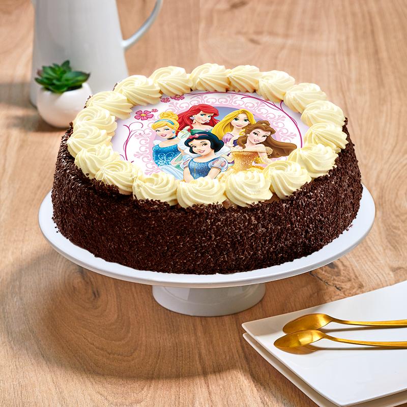 Gâteau au chocolat ou vanille Princesses Disney - Anniversaire enfant  - Pâtisserie La Romainville