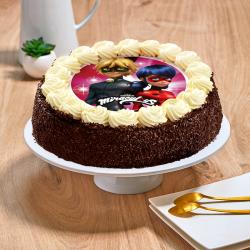 Gâteau au chocolat ou vanille  Miraculous - Anniversaire enfant  - Pâtisserie La Romainville
