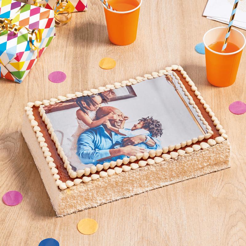 Gateau avec photo noix de coco - gâteau personnalisé - Pâtisserie La Romainville