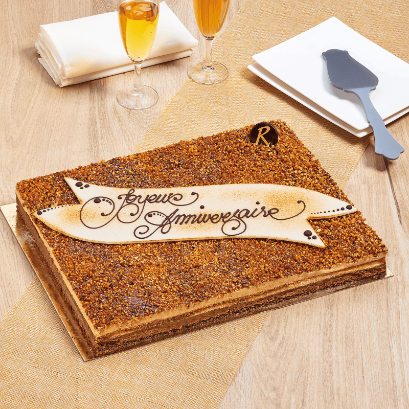 Grand croquant caramel - idéal pour vos fêtes d'anniversaire ou toute réception