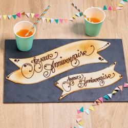 Plaque d'amande  à personnaliser avec inscription - Pâtisserie La Romainville