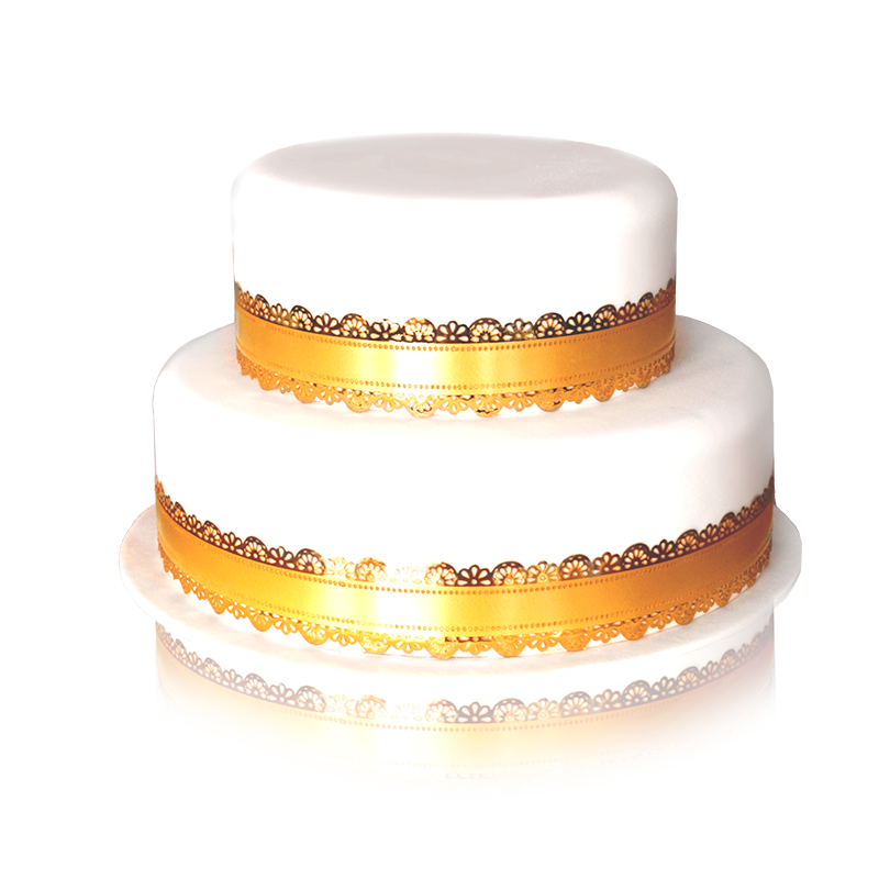 wedding cake doré 2 etages