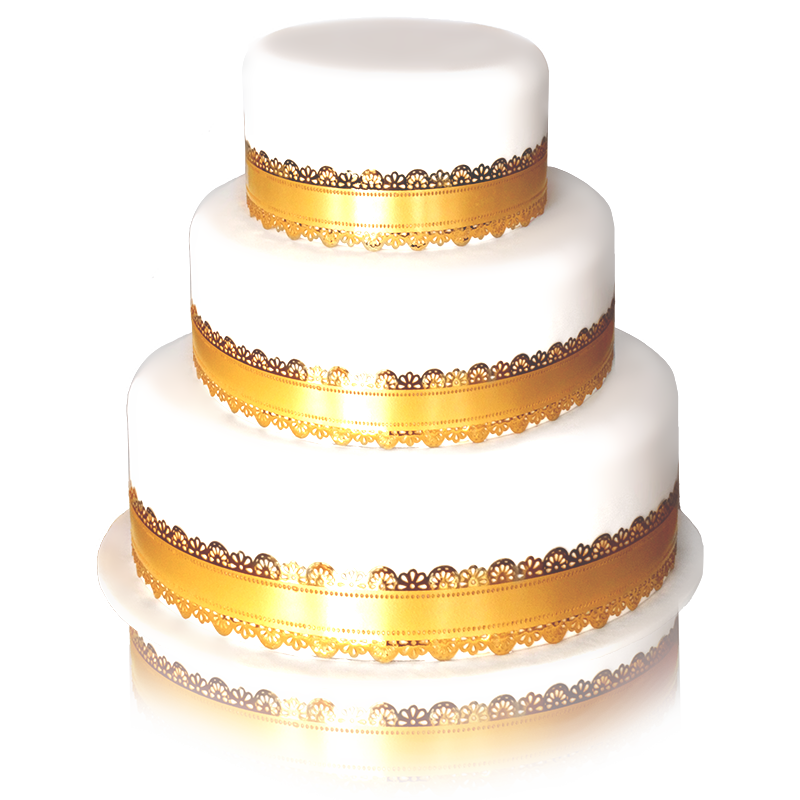 wedding cake doré 3 etages