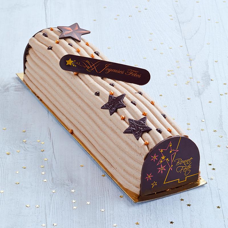 Bûche pâtissière à la vanille - collection Noël - pâtisserie La Romainville